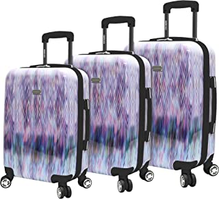 Luggage 3 Piece Suitcase Set With Spinner Wheels (Diamond)