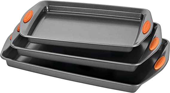 Rachael Ray 56524 Nonstick Bakeware Set with Grips