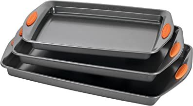 Rachael Ray 56524 Nonstick Bakeware Set with Grips, Nonstick Cookie Sheets / Baking..