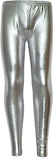 A2Z 4 Kids Kinder Mädchen Leggings Metalic Shinny Disco Mode Tanz Stilvoll Leggings Alter 3 4 5 6 7 8 9 10 11 12 13 Jahre