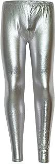 Kids Girls Leggings Metalic Shinny Disco Fashion Dance Leggings Age 4-13 Years