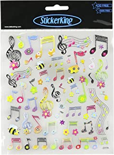 Tattoo King Multi-Colored Stickers-Spring Notes