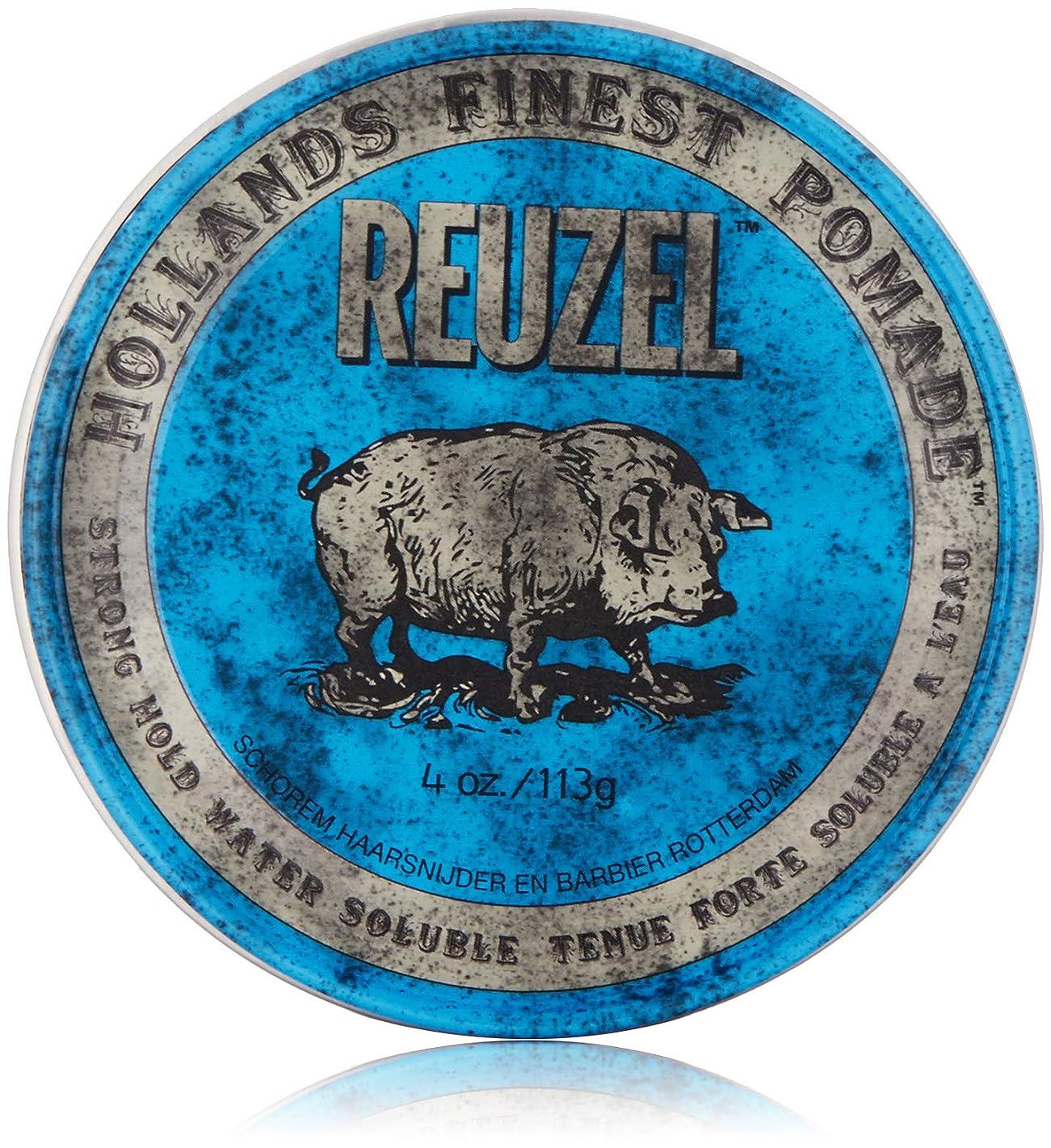 九追記伸ばすReuzel Blue Strong Hold High Sheen Pomade by Reuzel