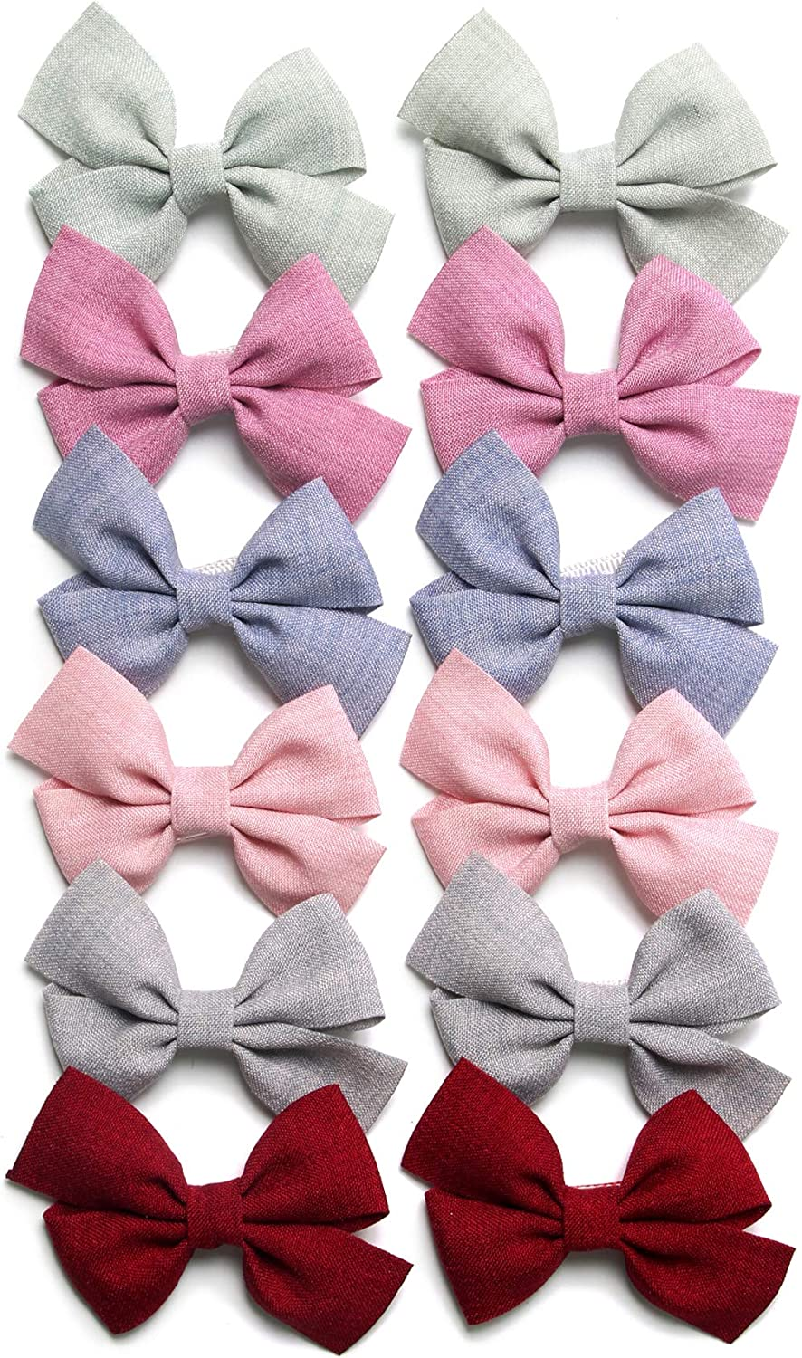 Baby Girls' Hair Bow Clips It is very popular Fully Sale SALE% OFF Ribbon Lined Barrettes A