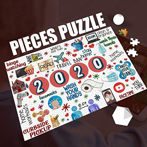 high quality OPTIMISTIC Puzzle outlet sale for Adults 1000 Pieces -2020 Quarantine Themed Puzzles - DIY Puzzle Game Collection - 1000 Pieces high quality Jigsaw Puzzle, 29x19In, Creative Holiday Decor to Memorialize This Difficult Year online sale