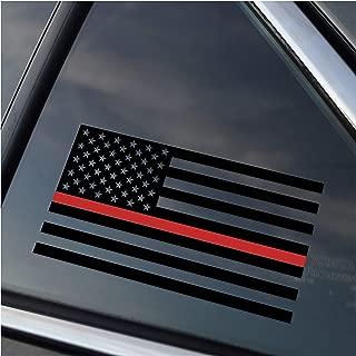 Thin Red Line Firefighter Support Vinyl Car Window Decal Sticker