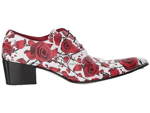 Jeffery encaje diamante de con Rojo West Negro Zapato de Steel punta Yw1AnTq