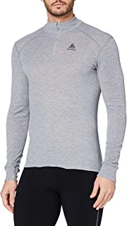 ODLO Men's SUW TOP Turtle Neck 1/2 Zip L/S Active O Undershirt
