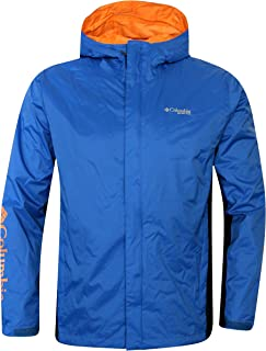 Columbia Sportswear Men's PFG Timber Pointe Jacket,Blue (Small)