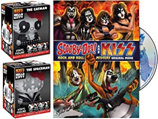 CatMan + SpaceMan Scooby-Doo & Gang Meets Kiss Rock band Cartoon DVD pack & Hello Kitty Funko Vinyl Kiss Figures Animated Mystery Movie Pack