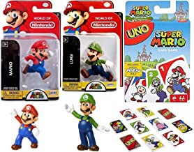 Plumber Mario Super Uno Go Edition Set Theme Game Bundled with Character 2.5