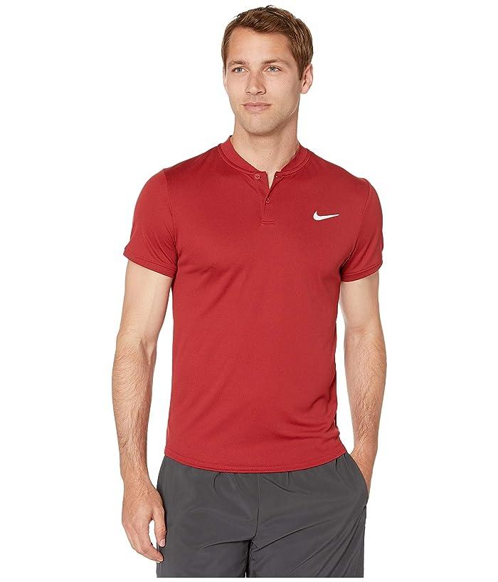 Nike NikeCourt Dry Polo Blade (Team Crimson/Team Crimson) Men