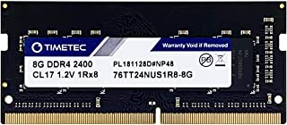 Timetec Hynix IC DDR4 2400MHz PC4-19200 Unbuffered Non-ECC 1.2V CL17 1Rx8 Single Rank 260 Pin SODIMM وحدة ذاكرة الحاسب الم...