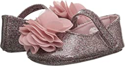 Glitter Skimmer with Chiffon Flower - Waddle (Infant)