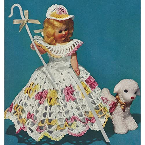 How to crochet an animal / doll dress with collar - Wooly Wonders ... | 500x500