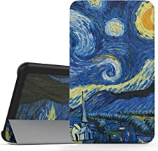 MoKo Samsung Galaxy Tab A 7.0 Case - Ultra Lightweight Slim-Shell Stand Cover Case for Samsung Galaxy Tab A 7.0 Inch Tablet 2016 Release(SM-T280 / SM-T285 Version ONLY), Starry Night