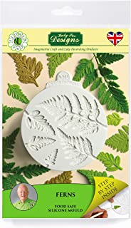 Pro Ferns Silicone Sugarpaste Icing Mold, Nicholas Lodge Flower Pro for Cake Decorating, Sugarcraft, Candies and Crafts, Food Safe Approved, Made in the UK