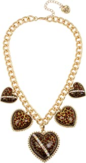 Leopard Heart Frontal Necklace