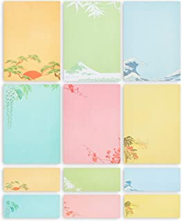 Japanese Stationery Paper and Envelopes (7.25 x 10.25 In, 60-Pack)