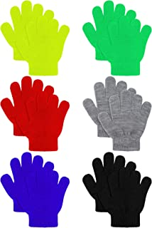6 Pairs Kids Knitted Magic Gloves Teens Warm Winter...