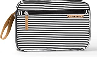 Stylish Portable Diaper Changing Pad – Diaper Clutch Bag - by Kute 'n' Koo – Fashion and Function in One Bag – Designed in NYC and Much More …(black and white french stripe)