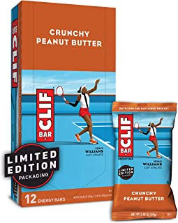 CLIF BAR - Energy Bars - Crunchy Peanut Butter - (2.4 Ounce Protein Bars, 12 Count)