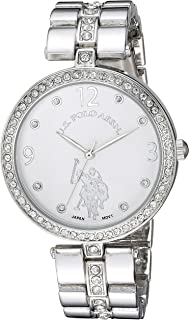 U.S. Polo Assn. USC40333 Women's Quartz Watch, Analog Display and Stainless Steel Strap