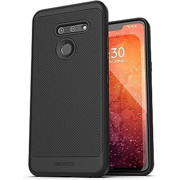 Encased LG G8 ThinQ Case (Thin Armor) Slim Fit Flexible Grip Phone Cover - Black