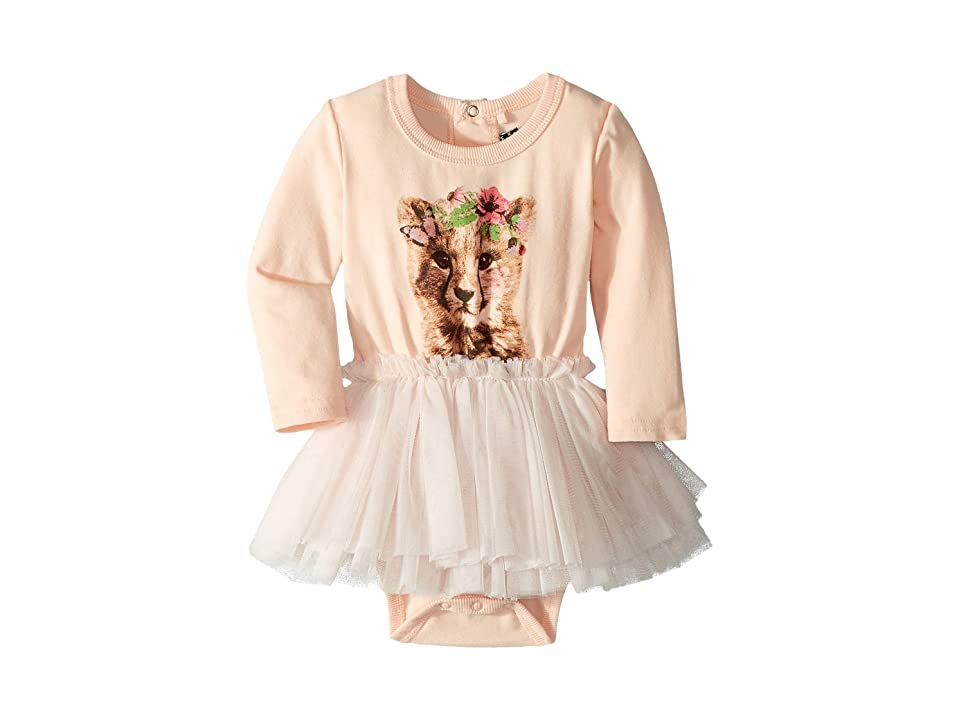 Rock Your Baby Floral Cheetah Circus Dress (Infant) (Pale Pink) Girl