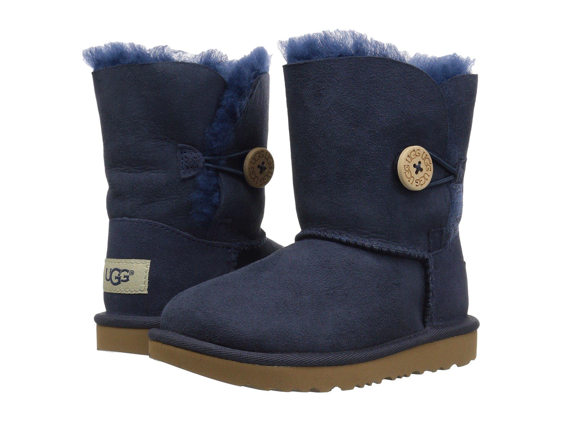 UGG Kids Bailey Button II (Toddler/Little Kid) (Navy) Girls Shoes