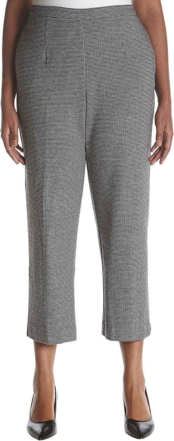 Alfred Dunner Plus Size Houndstooth Pants 24W Short