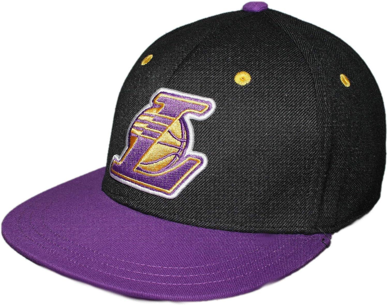 adidas Originals NBA LA LAKERS Fitted Cap sombrero morado f77537 en dorado y negro