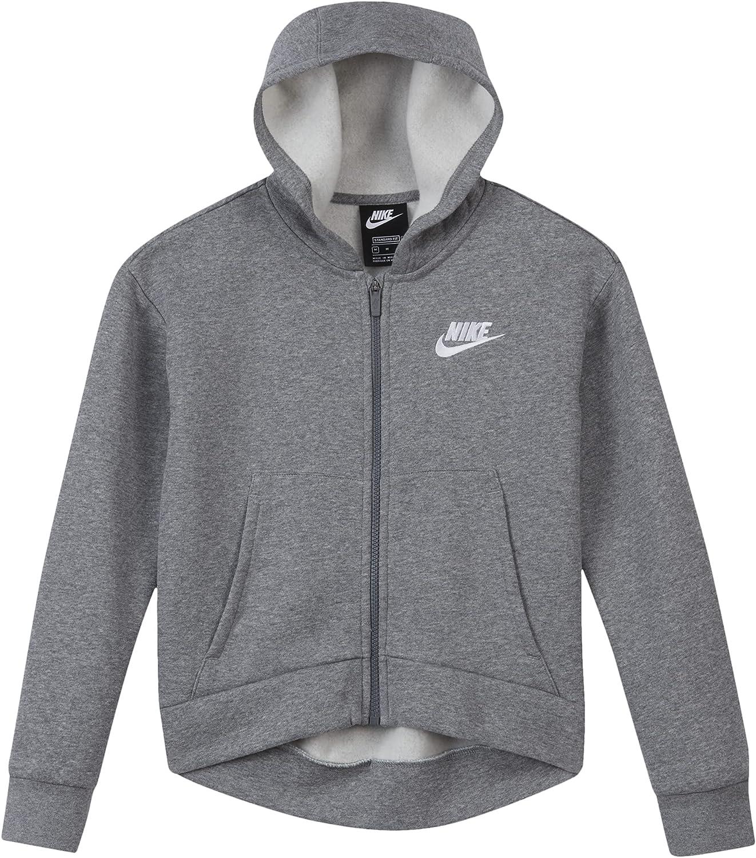 Nike Sportswear Club Fleece Big Kids Full-Zip Hoodie (Heather)