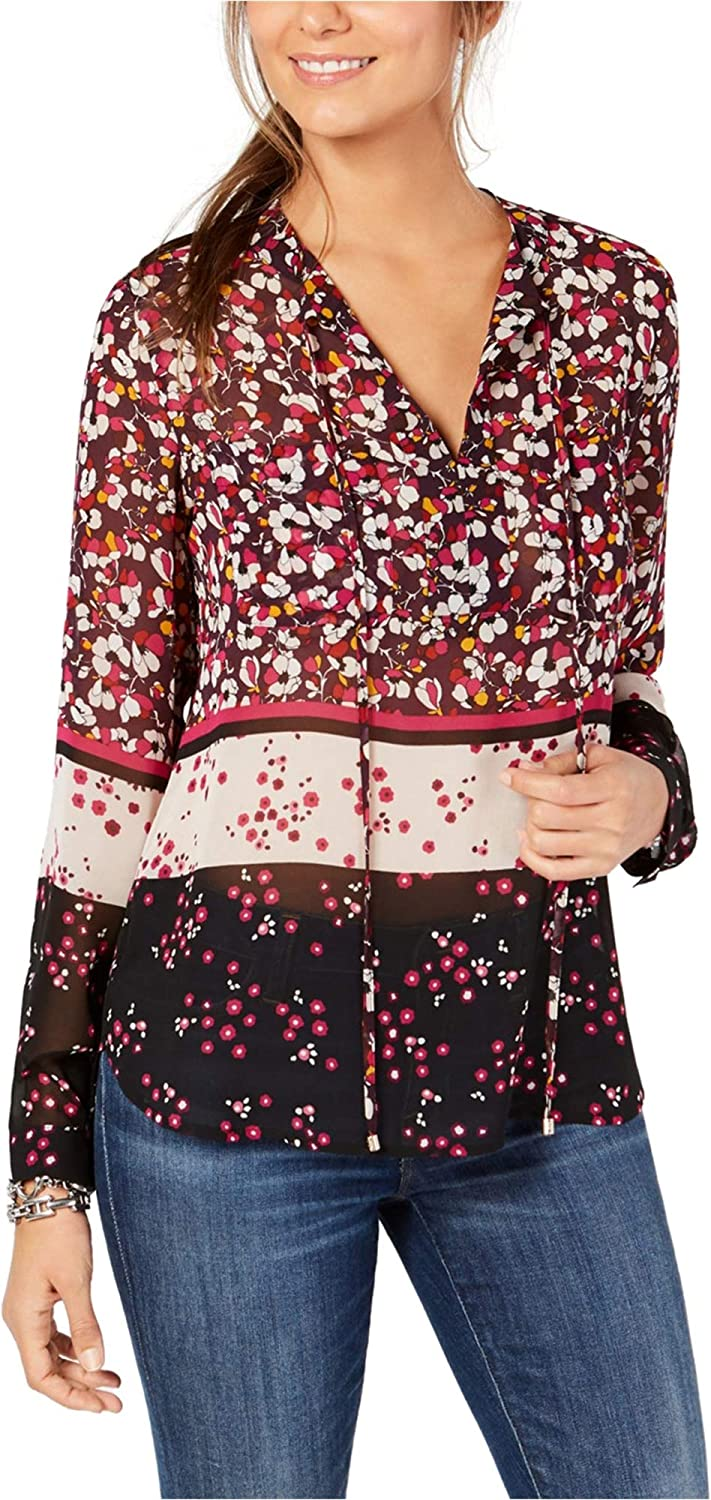 Tommy Hilfiger 一部予約 Womens Pullover Floral Blouse 宅配便送料無料