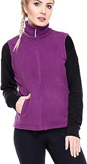 Oalka Women's Spring Fall Full Zip Fleece Vest