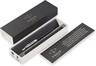 Parker Jotter Premium Bond Street Black Grid CT Ballpoint Pen, Gift Box