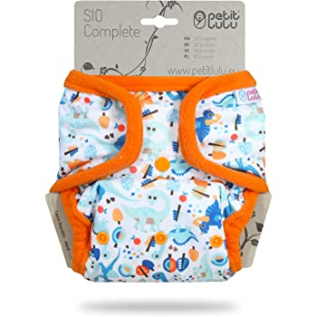 Cloth Nappies Made in Europe Reusable /& Washable Petit Lulu Bamboo SIO Basic AI2 Cloth Nappy Insert New Version All in Two Booster 1 Pc