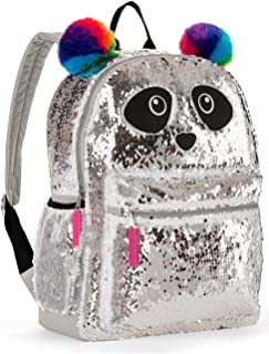 Panda 2 Way Sequins Critter Backpack 16