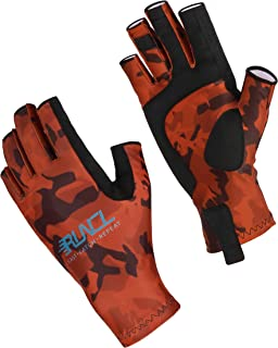 Fishing Gloves, Fingerless Gloves, Sun Gloves - Stretch Fit, Breathable Ventilation, Sun Protection, Fingerless Design, Angling-Specific Design - Fishing, Kayaking, Rowing, Cycling, Mowing