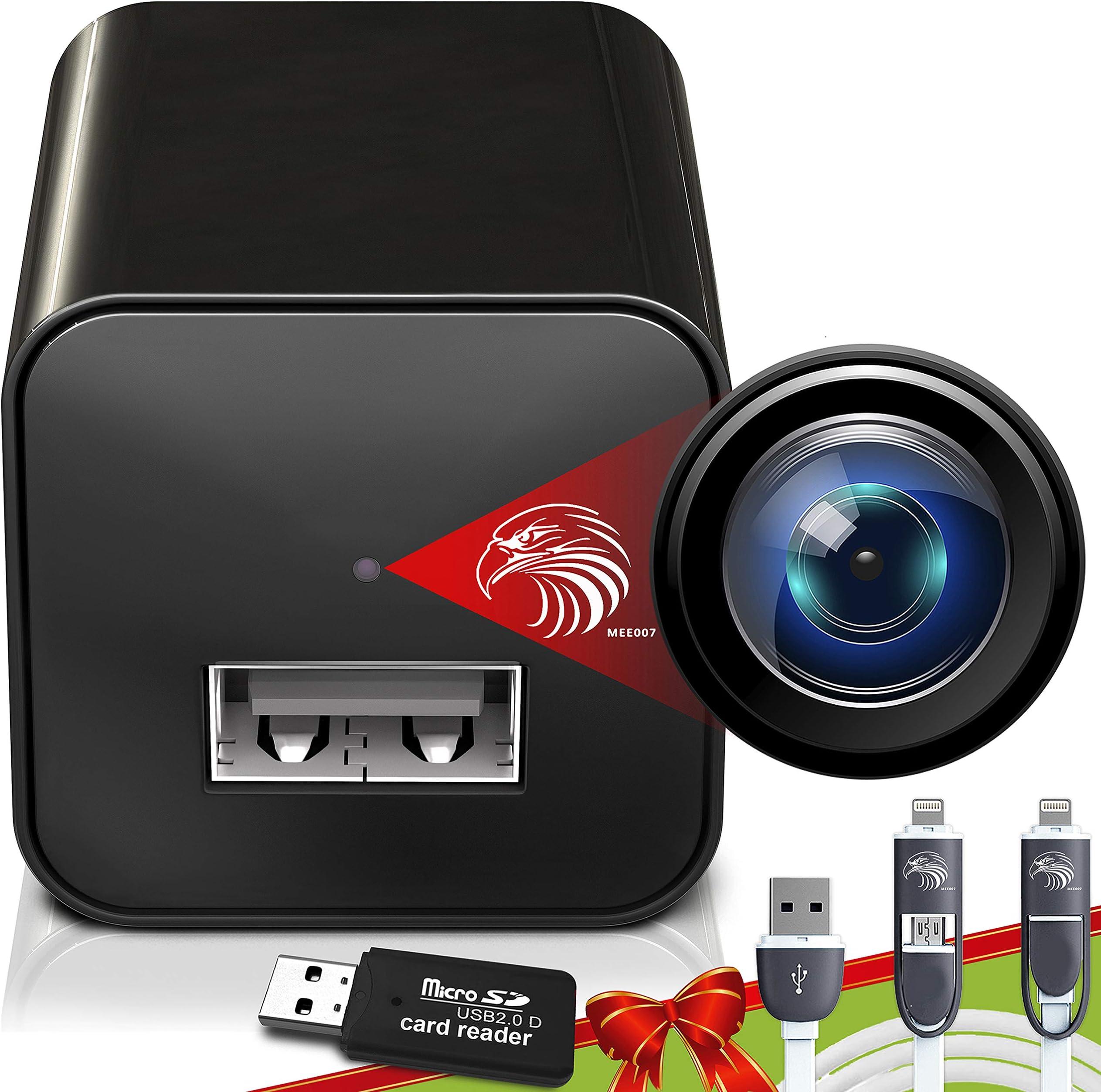 Spy Camera Charger - Hidden Camera - Premium Pack - Mini Spy Camera 1080p - USB Charger Camera - Hidden Spy Camera - Hidden Nanny Cam - Hidden Spy Cam - Hidden Cam - Surveillance Camera Full HD