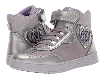 Geox Kids Jr Skylin 3 (Little Kid/Big Kid) (Silver/Purple) Girls Shoes