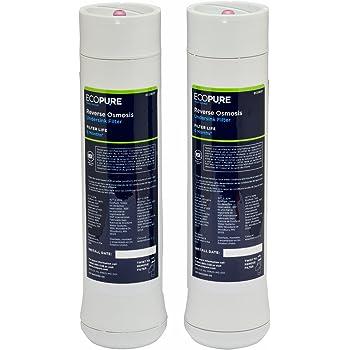 EcoPure ECOROF - Filtres à eau pour osmoseur ECOPURE. Kit de pre/post filtre pour système de filtration par osmose inverse. Compatible ECOPURE