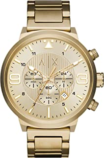 A|X Men's Gold Tone Stainless Steel Watch AX1368