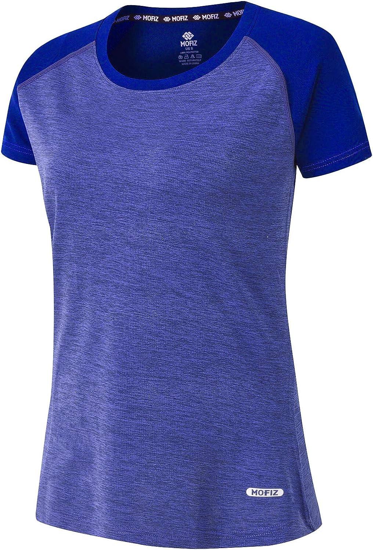 MoFiz Women's Short Sleeve Shirts Milwaukee Mall UPF Dry Performan 50+ Quick Rare UV