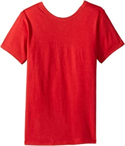 Short Sleeve Scoop Jersey Top - Reversible Front/Back (Little Kids/Big Kids)
