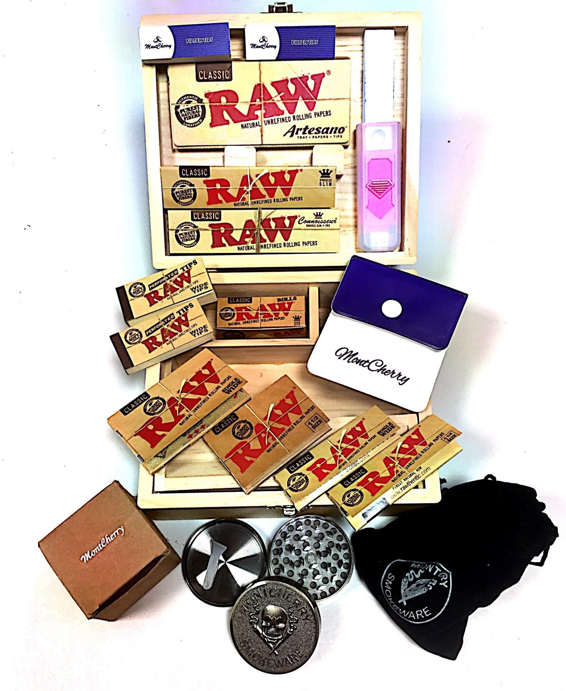 Raw 7 - Conjunto para fumador con caja y regalos extras: Amazon.es ...