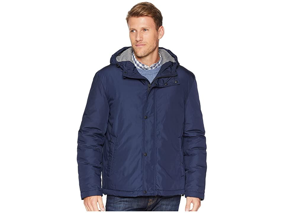 Cole Haan Oxford Rain Zip Front Jacket (Navy) Men