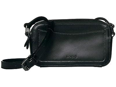 Lodis Accessories Audrey Arabella Crossbody (Black/Black) Handbags