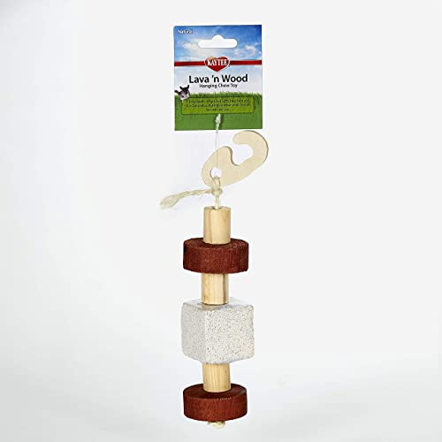 Kaytee Natural Lava n Wood Hanging Toy for Small Animals