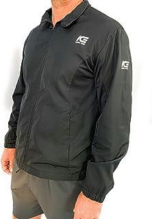 Men's Running Jacket Black - Lightweight and breathable, Elastic cuffs, Pockets